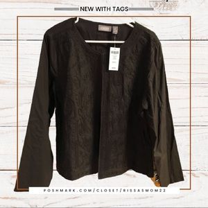 CHICO'S Soustache Medley Brown Jacket 3/XL NWT